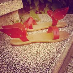 So excited for our new awesome red leather at color-your.com/ermis-sandals/