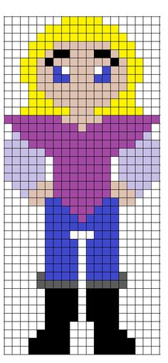 Disney Pocahontas John Smith perler bead pattern