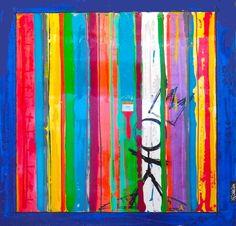 Trait Vertical, Pop Art Colors, Colour Field, David, Dope Art, Art Plastique, Art School, Oeuvre D'art, Art Lessons
