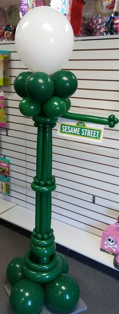 Balloon Sesame Street Lamp Post It's Party Time 618-651-1505 Highland, IL