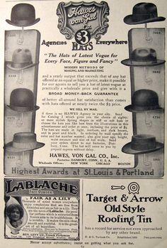 5a598334892 1907 hats for men... Vintage Party