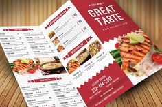 Our favorite MY-Creative Market flyer template designs for music events, BBQs, birthdays, holidays, summer parties and more! Restaurant Flyer, Restaurant Menu Design, Modern Restaurant, Restaurant Recipes, Design Brochure, Brochure Template, Flyer Template, Flyer Design, Creative Brochure