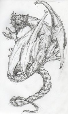 SciFi and Fantasy Art dragon tattoo.jpg by Hannah K Wagenblast