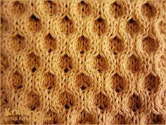 Classic Aran Honeycomb -  fun stitch pattern.