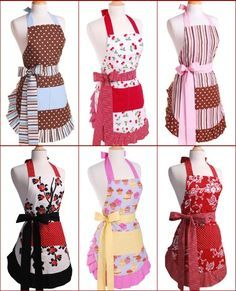 LIKE Chocolate Brown with Blue and stripe cute & flirty aprons . LIKE Chocolate Brown with Blue and stripe cute & flirty aprons . LIKE Chocolate Brown with Blue and stripe Flirty Aprons, Cute Aprons, Sewing Hacks, Sewing Projects, Ruffle Apron, Sewing Aprons, Creation Couture, Aprons Vintage, Diy Clothes