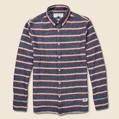 Hants Brushed Flannel Shirt - Blue/Red