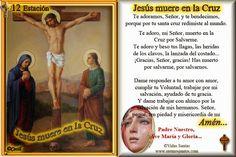 Vidas Santas: †Estampitas con Oración, Estaciones del Via Crucis † 12