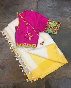 - 4 Online Boutiques That Sells Best Handloom Sarees Saree Blouse Neck Designs, Saree Blouse Patterns, Fancy Blouse Designs, Skirt Patterns, Coat Patterns, Sewing Patterns, Stylish Blouse Design, Saree Trends, Stylish Sarees