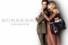 Burberry Prorsum S/S12 campaign featuring Eddie Redmayne and Cara Delevingne