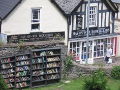 Hay-on-Wye, on the border of England and Wales, home of the largest secondhand bookstore in the world