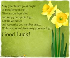 Dgreetings - Send this card and wish good luck to your friends.
