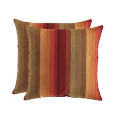 allen + roth Astoria Sunset Stripe Square Throw Pillow at Lowe's. Bring the vivid colors of nature to your porch or patio in the form of these outdoor decorative pillows from allen + roth. This pair of pillows features Patio Pillows, Fall Pillows, Outdoor Throw Pillows, Decorative Throw Pillows, Cabin Porches, Allen Roth, Feather Pillows, Unique Gardens, Cozy Cabin