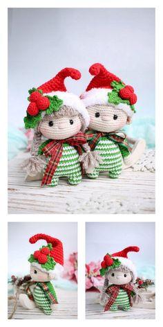 Amigurumi Little Christmas Elf Free Pattern – Free Amigurumi Patterns Crochet Christmas Decorations, Crochet Ornaments, Holiday Crochet, Christmas Knitting, Crochet Crafts, Crochet Projects, Free Christmas Crochet Patterns, Christmas Elf, Christmas Crafts
