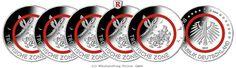 RITTER BRD, 5 Euro 2017 ADFGJ komplett, Tropische Zone, PP #coins