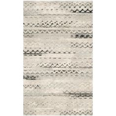 Safavieh Retro Leonide Distressed Modern Abstract Rug x - Cream/Grey), Ivory Construction Crafts, Moroccan Area Rug, Synthetic Rugs, Mid Century Modern Decor, Area Rug Sizes, Rug Material, Grey Rugs, Power Loom, Online Home Decor Stores