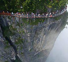 Terrifying 300-Metre-High Glass Walkway Opens in China