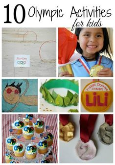 10 Olympic Activities for kids ~Olympic games, party decorations and crafts