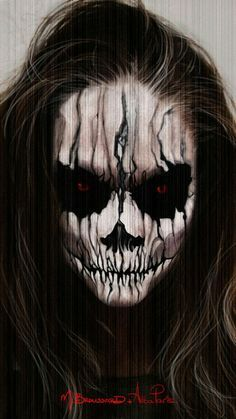 Scary cool Halloween make-up idea. But it might scare the little kids:)