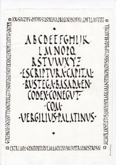 :::: Arteilluminandi :::: - Rustica, based on the writing found in the Vergilius Palatinus manuscript (dated to the fourth or fifth century AD) housed at the Vatican.