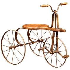 Century French Iron and Wood Child Tricycle