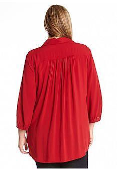 Karen Kane Plus Size Fashion Red Midtown Tie Up Shirt Karen Kane Plus Size Fashion Red Midtown Tie Up Shirt #Karen_Kane #Red #Midtown #Tie_Up #Shirt  #Top #Comfy #Chic  #Winter #Holiday #Plus_Size_Fashion #Belk