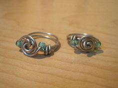 Rose wire ring.