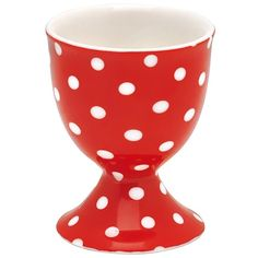 GreenGate Stoneware Egg Cup Spot Red