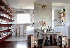 """vale a pena clicar na foto e entrar na materia: """"a cozinha vira sala"""". acho que é bem o que tu procura."""