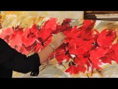 ▶ Gabriela Mensaque PINTANDO FLORES ROJAS - YouTube
