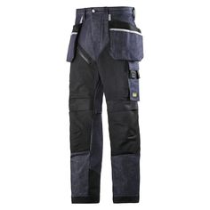 Reinforced design with modern jeans look. Hardwearing work trousers with amazing fit and functionality. Cordura® 1000 reinforced knee protection, built-in ventilation, holster pockets and stretch gusset in crotch for long-lasting comfort at work.