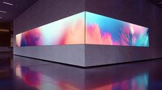 Collide: Immersive Art Installation by Onformative San Francisco-based studio Obscura was commissioned by Salesforce to create this gigantic LED video wall installation for the lobby of their flagship office. Installation Interactive, Light Art Installation, Art Installations, Web Banner Design, Display Design, Booth Design, Design Thinking, Led Video Wall, Instalation Art