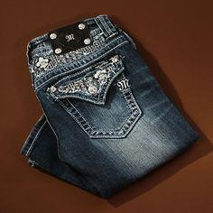 Miss Me Lacy Fleur de Lis Boot Cut Jeans