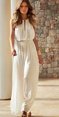 Melissa Odabash 2015 Rachel #Cream #Long #Dress www.southbeachswimsuits.com