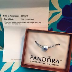 After my boyfriend left for basic training for the Navy a few days ago, I had a package on my front porch one day. I opened it up to find this precious anchor charm for my Pandora bracelet and the sweetest note. He arranged for it to be delivered after he had been gone for a few days. My man always spoils me and makes me feel so special, even from 779 miles away ❤️