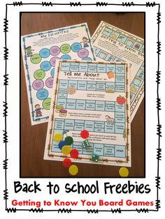 FREEBIES - 3 Getting to know you board games for Back to School - by Games 4 Learning