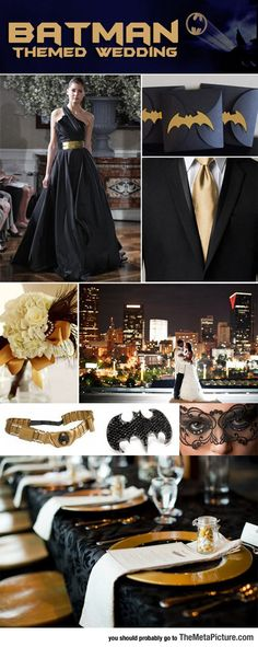 Batman Themed Wedding -repinned from Los Angeles County & Orange County officiant https://OfficiantGuy.com