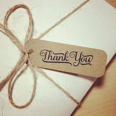 Thank You Tags - Brown Kraft - Pack of 36. $12.95, via Etsy.