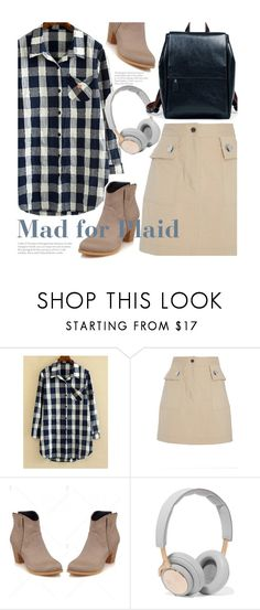 """Mad for Plaid"" by beebeely-look ❤ liked on Polyvore featuring ADAM, B&O Play, casual, plaid, plaidshirt, WardrobeStaples and twinkledeals"