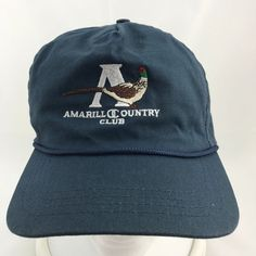 Amarillo Country Club Blue Hat Cap Adjustable Strapback Duckster Made USA Texas #Duckster #BaseballCap
