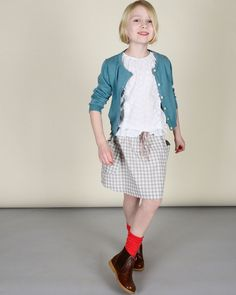 Girls Gingham Spring Skirt | Olive Juice #girlsfashion