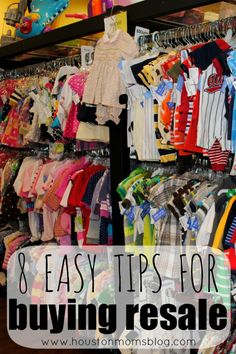 8 Easy Tips for Buying Resale {+ Giveaway} | Houston Moms Blog Click here to learn tricks on to help YOU get the most bang for your buck when buying kid's clothes :: http://citymomsblog.com/houston/8-easy-tips-for-buying-resale-spring-cleaning/
