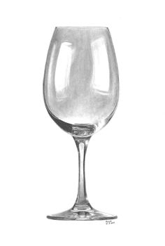 Charcoal Drawing Tips Wine Glass von faul-ralph -