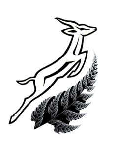 Springbok and Silver Fern Rugby Tattoos, Tribal Tattoos, Globe Tattoos, African Tattoo, Tattoo Ideas, Tattoo Designs, Silver Fern, Leather Projects, Arm Tattoo
