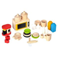 PlanToys Dollhouse Accessories for Kitchen & Tableware