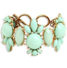 mint and gold bracelet ♥✤ | Keep the Glamour | BeStayBeautiful Bling Bling, Seymour, Fashion Accessories, Jewelry Accessories, Jewelry Ideas, Cute Fashion, Fashion Necklace, Fashion Jewelry, Diamond Are A Girls Best Friend