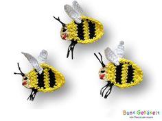 Häkelapplikationen - Biene - ein Designerstück von ursula-petra bei DaWanda