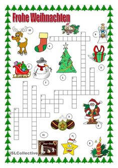 kreuzwortr tsel weihnachten para practicar espa ol. Black Bedroom Furniture Sets. Home Design Ideas