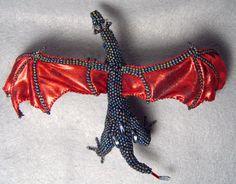 Murai OoaK poseable beaded dragon by ShinyThingsbyOrin on Etsy