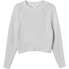 Monki Bobo knitted top ($17) ❤ liked on Polyvore featuring tops, sweaters, shirts, clothes - tops, grey cloud melange, mock neck shirt, cable sweater, ribbed shirt, shirts & tops and mock neck sweater