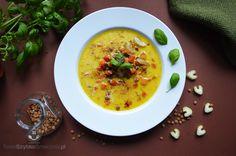 Zupa krem z dyni, marchewki i imbiru. Smaczna zupa i zdjęcie.